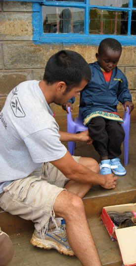 Young Boy's Shoe Fitting