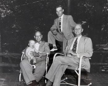 Left to right, Allen Puckett, III; Allen Puckett, Sr; Allen Puckett, Jr; Founder W.N. Puckett